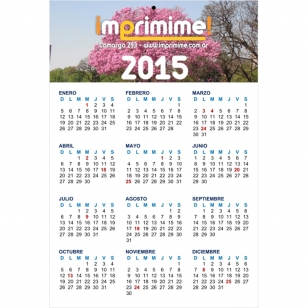 Calendario Colgante Simple